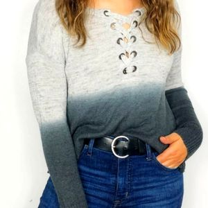 American Eagle Gray Ombre Sweater sz XS